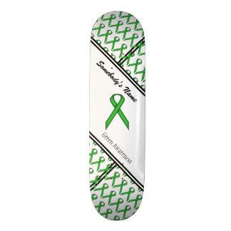 Green Standard Ribbon by Kenneth Yoncich Skateboard Deck