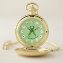 Green Standard Ribbon (Cf) by K Yoncich Pocket Watch