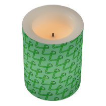 Green Standard Ribbon Flameless Candle