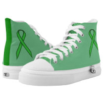 Green Standard Ribbon High-Top Sneakers