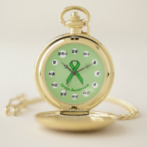 Green Standard Ribbon (Kf) by K Yoncich Pocket Watch