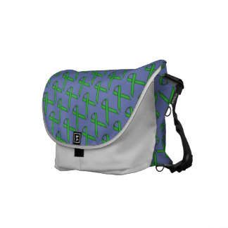 Green Standard Ribbon Messenger Bag