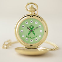 Green Standard Ribbon (Mf) by K Yoncich Pocket Watch