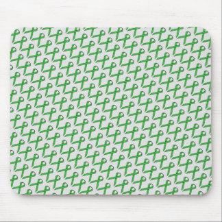 Green Standard Ribbon Mouse Pad