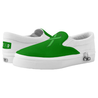 Green Standard Ribbon Printed Shoes