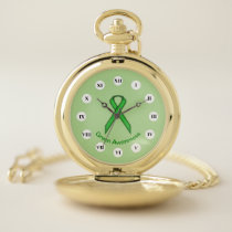 Green Standard Ribbon (Rf) by K Yoncich Pocket Watch