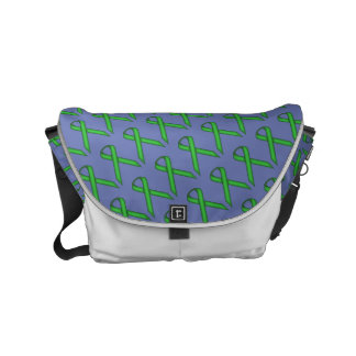 Green Standard Ribbon Small Messenger Bag