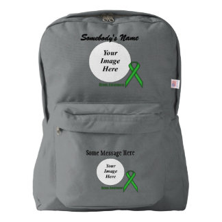 Green Standard Ribbon Template Backpack