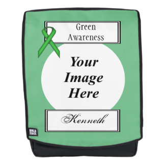 Green Standard Ribbon Template by Kenneth Yoncich Backpack