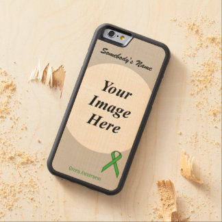 Green Standard Ribbon Template by Kenneth Yoncich Carved Maple iPhone 6 Bumper Case
