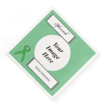 Green Standard Ribbon Template by Kenneth Yoncich Paper Dinner Napkin
