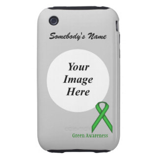 Green Standard Ribbon Template iPhone 3 Tough Covers