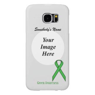 Green Standard Ribbon Template Samsung Galaxy S6 Cases