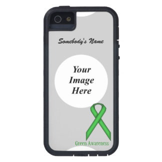 Green Standard Ribbon Template iPhone 5 Cases