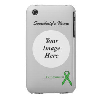 Green Standard Ribbon Template iPhone 3 Case-Mate Cases