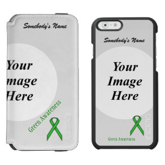 Green Standard Ribbon Template iPhone 6/6s Wallet Case