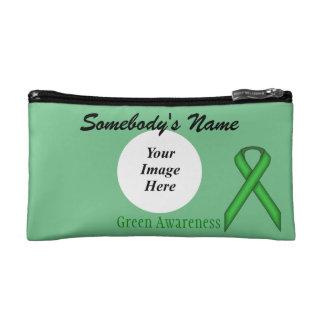 Green Standard Ribbon Template Makeup Bag