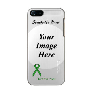 Green Standard Ribbon Template Metallic Phone Case For iPhone SE/5/5s