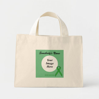 Green Standard Ribbon Template Mini Tote Bag