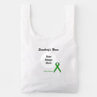 Green Standard Ribbon Template Reusable Bag