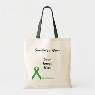 Green Standard Ribbon Template Tote Bag
