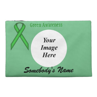 Green Standard Ribbon Template Travel Accessory Bag