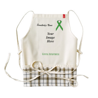 Green Standard Ribbon Template Zazzle HEART Apron