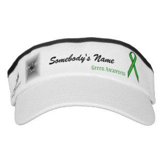 Green Standard Ribbon Template Headsweats Visor