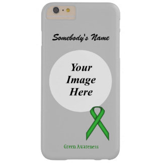 Green Standard Ribbon Tmpl by Kenneth Yoncich Barely There iPhone 6 Plus Case