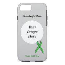 Green Standard Ribbon Tmpl by Kenneth Yoncich iPhone 8/7 Case