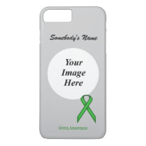 Green Standard Ribbon Tmpl by Kenneth Yoncich iPhone 8 Plus/7 Plus Case