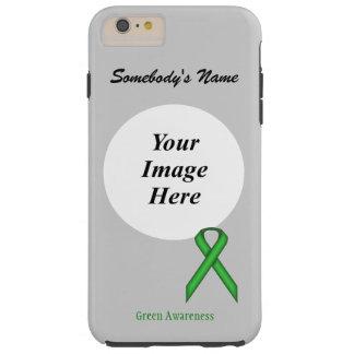 Green Standard Ribbon Tmpl by Kenneth Yoncich Tough iPhone 6 Plus Case