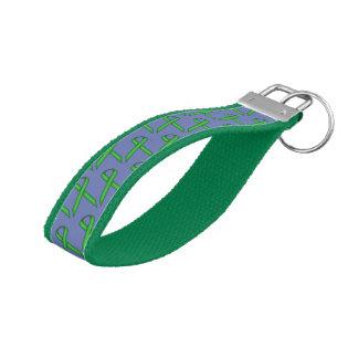 Green Standard Ribbon Wrist Keychain
