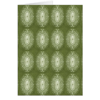 Green Star Greeting Card