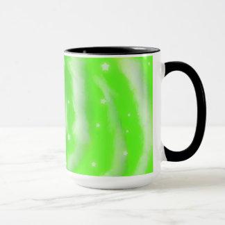 Green Star Clouds Mug