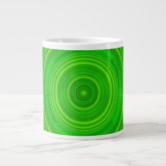 Green Star Formation Mandala Large Coffee Mug