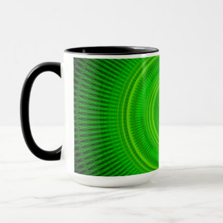 Green Star Formation Mandala Mug