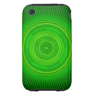Green Star Formation Mandala Tough iPhone 3 Cover