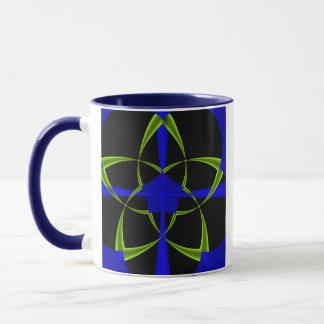 Green Star Fractal Mug