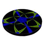 Green Star Fractal Poker Chips Set