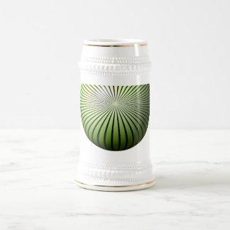 Green Star Globe Beer Stein