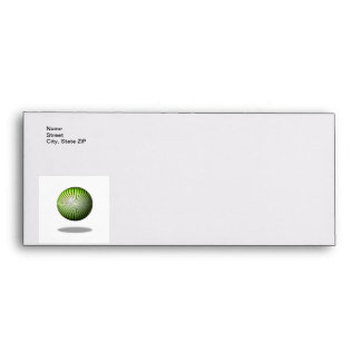 Green Star Globe Envelope