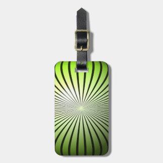 Green Star Globe Luggage Tag