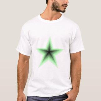 Green Star In T-Shirt