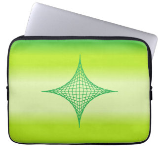 Green Star Laptop Computer Sleeves