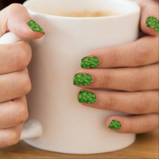 Green Star Moss Pattern Nail Art Decals