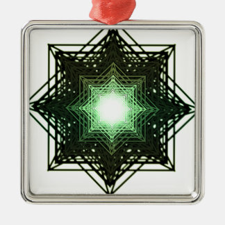 Green Star Christmas Tree Ornaments