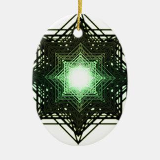 Green Star Christmas Ornament