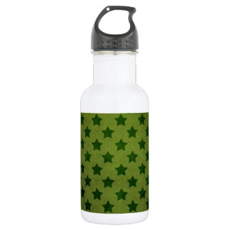 green star pattern stainless steel water bottle