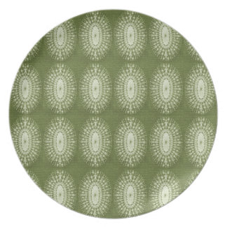 Green Star Dinner Plates